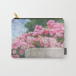 Cascade of Pink Roses Carry-All Pouch