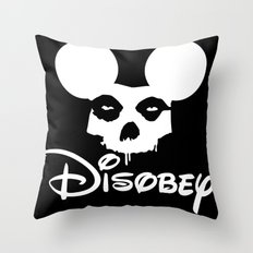 Disobey Throw Pillow
