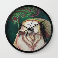 marley Wall Clocks featuring The Marley Series: Bobmarley by Katie Duker