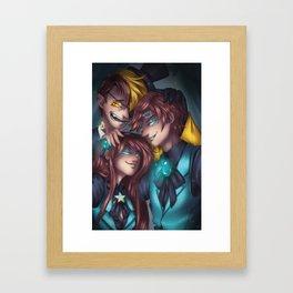 Reverse Falls Framed Art Print