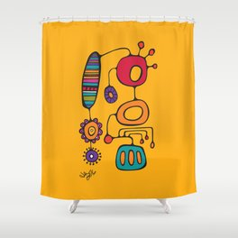 Feather Flower Chime in Color Shower Curtain
