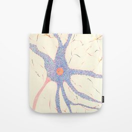 Starry night brain cell. Tote Bag
