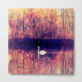the white swan Metal Print