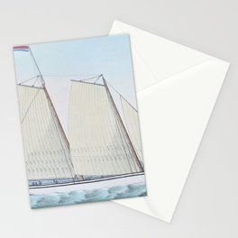 12,000pixel-500dpi - Nathaniel Currier - Extraordinary Express Across the Atlantic Stationery Cards