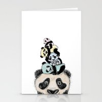 pandas Stationery Cards featuring pandas by Svenningsenmoller Design