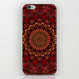 Bohemian Geometric Flower Mandala iPhone Skin