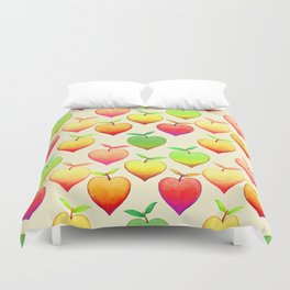 Peach Love Duvet Cover
