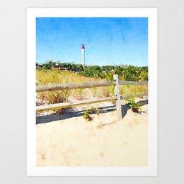 """Cape May Lighthouse"" Art Print"