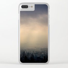 Fogged over Budapest Clear iPhone Case