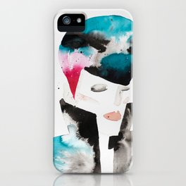 Color-bleed Portrait of a Rocker iPhone Case