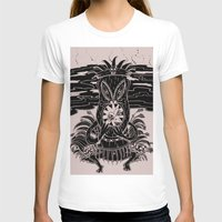 tiki T-shirts featuring Tiki lunch by CHAUCHE