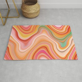 Bubble gum memories - Abstract Pink Pattern Rug