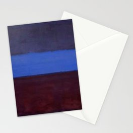 No.61 Rust and Blue 1953 by Mark Rothko Stationery Cards