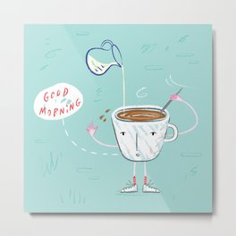 Coffee Buzz Metal Print