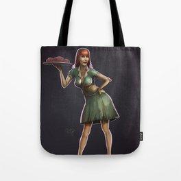 Zombie Pinup Tote Bag