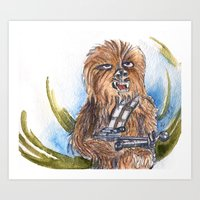 chewbacca Art Prints featuring Chewbacca by Alejandra Dirzo