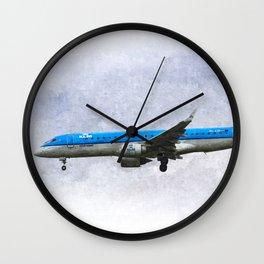 KlM Embraer 190 Art Wall Clock