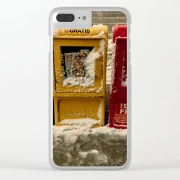 Early Winter Snow Clear iPhone Case