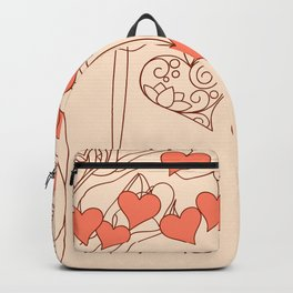 hearts with love Backpack