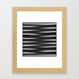 Black and White High Contrast Pattern Framed Art Print