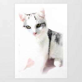 Cloud Cat Art Print