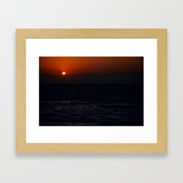 Sunrise Over The South China Sea Framed Art Print