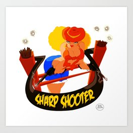 Sharp Shooter Art Print
