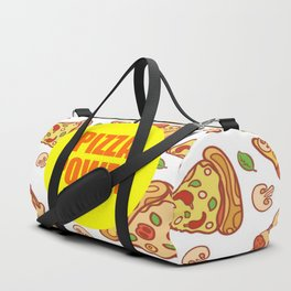 pizza power funny quote Duffle Bag
