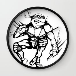 TMNT Raphael Ninja Turtle Wall Clock