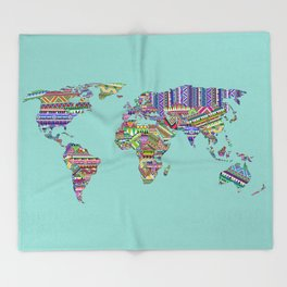Overdose World Throw Blanket