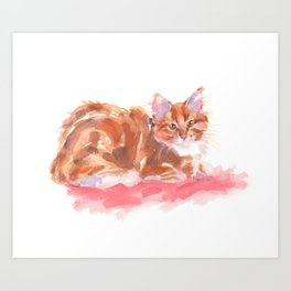 Ginger Girl Art Print