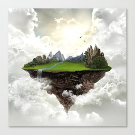 The island of silence Canvas Print