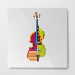 A colorful violin Metal Print