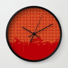 Dripping Octagons Wall Clock