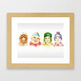 Real South Park Framed Art Print