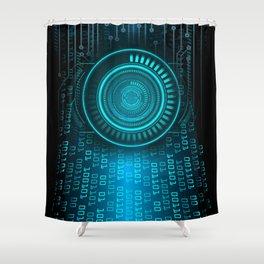 Futurist Matrix | Digital Art Shower Curtain