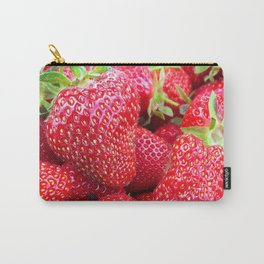 Close-up of Fresh Strawberries Carry-All Pouch
