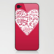 Te Amo iPhone & iPod Skin