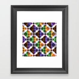 Retro Box Mosaic Small Framed Art Print