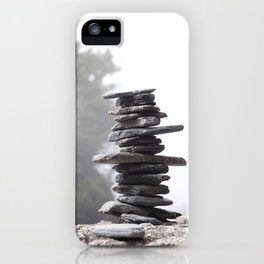 West Coast Inukshuk with Cedar Trees  #decor #society6 #buyart iPhone Case