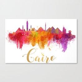 Cairo Skyline Egypt Watercolor cityscape Canvas Print
