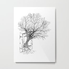 Replacing Nature with Knowledge Metal Print