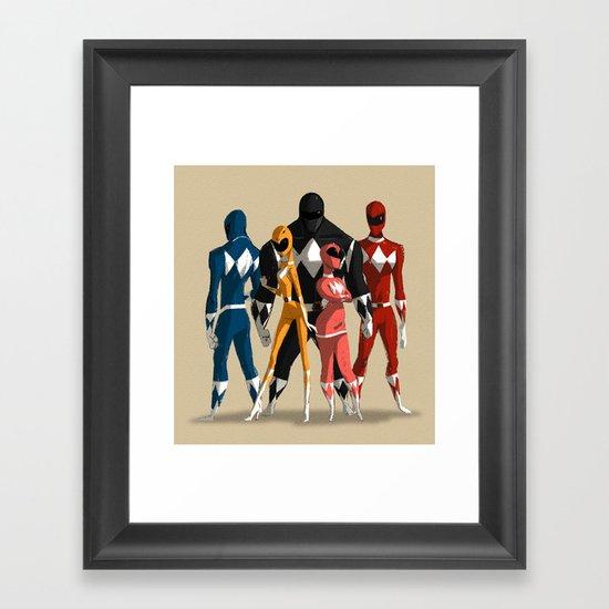 Power Rangers Framed Art Print