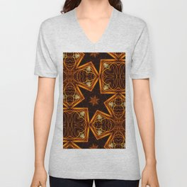 Repetitive pattern of stars. Abstract Christmas-looking background Unisex V-Neck
