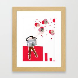 It's tea time in the City Framed Art Print
