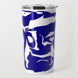 face3 blue Travel Mug