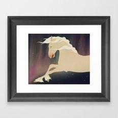 Space Horse Framed Art Print