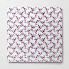 flamingo unicorn rainbow Metal Print