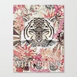 TIGER - WILD THING JUNGLE Canvas Print