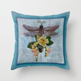Dragonfly Love by Kathy Morton Stanion Throw Pillow